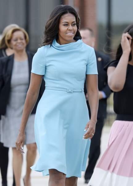 Michelle Obama en Carolina Herrera pour rencontrer le Pape François