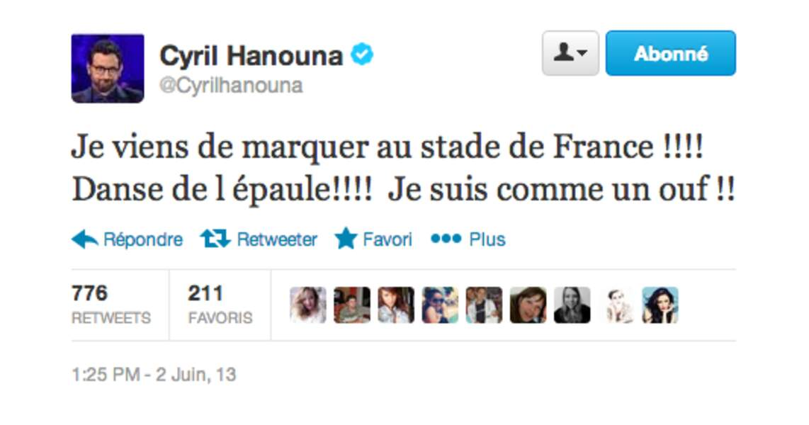 Cyril Hanouna a marqué un but