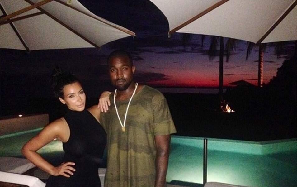 Kim et Kanye viennent souvent au Mexique en amoureux