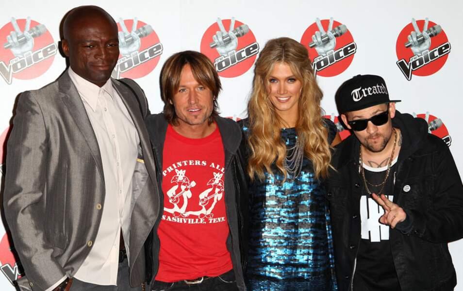 En 2012, Seal, Keith Urban, Delta Goodrem et Joel Madden ont essuyé les plâtres de The Voice en Australie