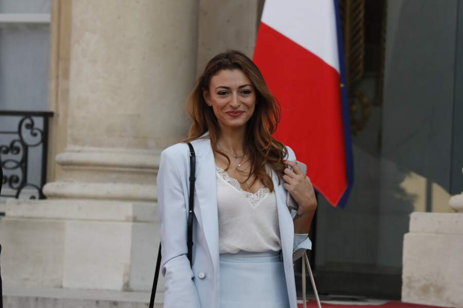 Les Bleus à l'Elysée après leur victoire en coupe du monde : Rachel Legrain-Trapani, la compagne de Benjamin Pavard