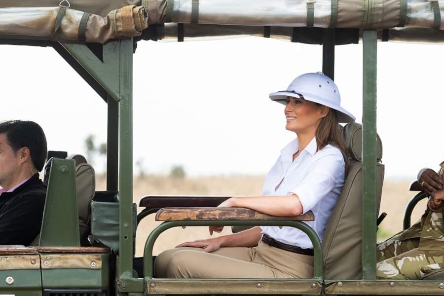 De passage au Kenya, Melania Trump a reproduit l'imagerie coloniale