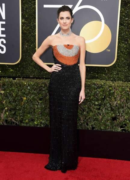 Allison Williams lors de la 75e cérémonie des Golden Globes, le 7 janvier 2018