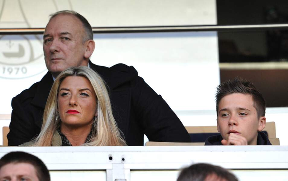 Ted, Joanne et Brooklyn Beckham