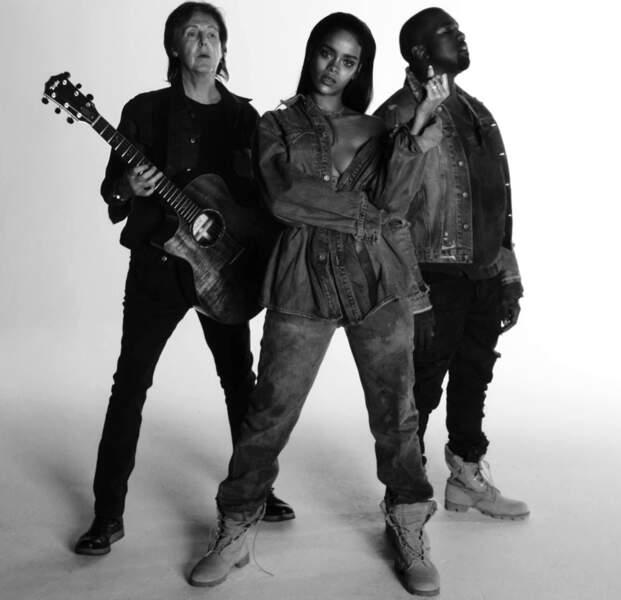 N°12. Rihanna, Kanye West, Paul McCartney - FourFiveSeconds