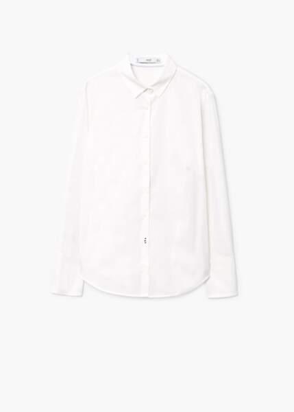Chemise en coton, Mango, 9,99€au lieu de 19,99€