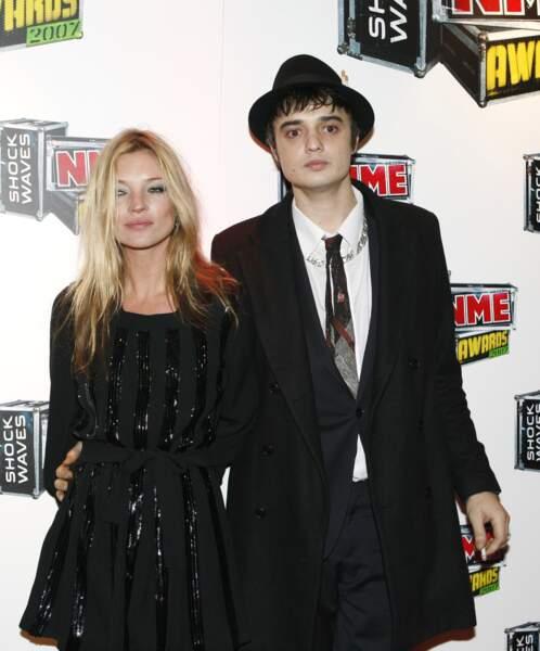 Kate Moss et Pete Doherty en couple de 2005 à 2007