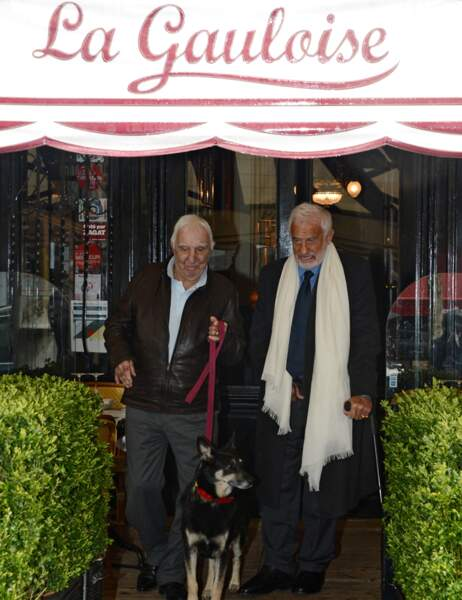Il a déjeuné au restaurant La Gauloise avec son ami l'acteur Charles Gérard