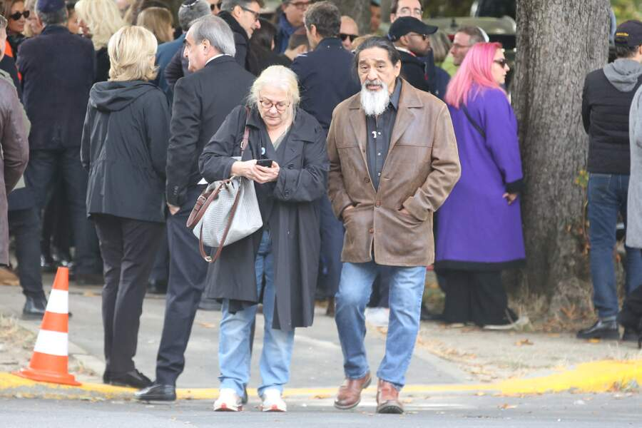 Josiane Balasko et George Aguilar aux obsèques de Philippe Berry