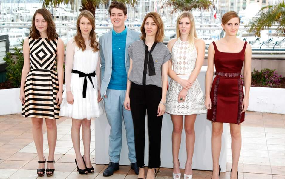 Katie Chang, Taissa Farmiga, Israel Broussard, Sofia Coppola, Claire Julien et Emma Watson