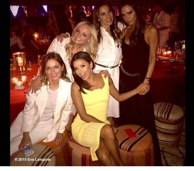 Eva Longoria, Emma Bunton, Mel C, Geri Halliwell et Victoria Beckham