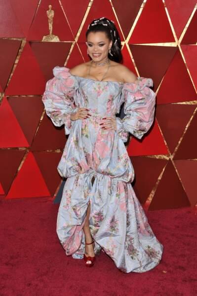 Andra Day à la 90e cérémonie des Oscars, à Los Angeles le 4 mars 2018