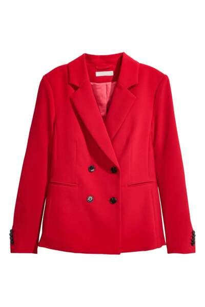 Blazer rouge, H&M, 39,99€