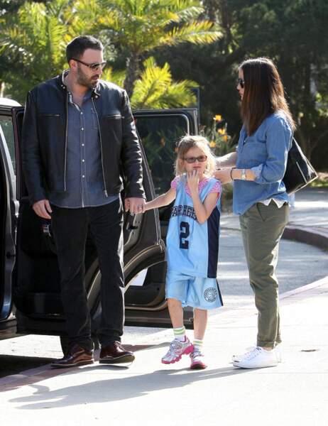 Ben Affleck, Violet et Jennifer Garner
