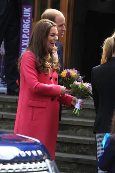 « Ha ha ha, elle est bien bonne celle-là ! », a l'air de dire la duchesse de Cambridge