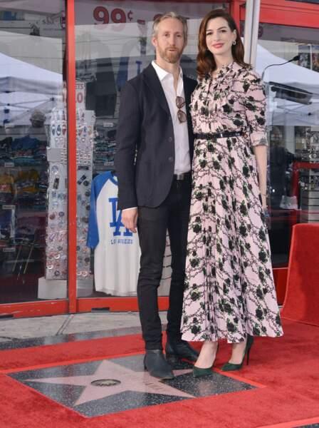 Anne Hathaway et son mari Adam Shulman