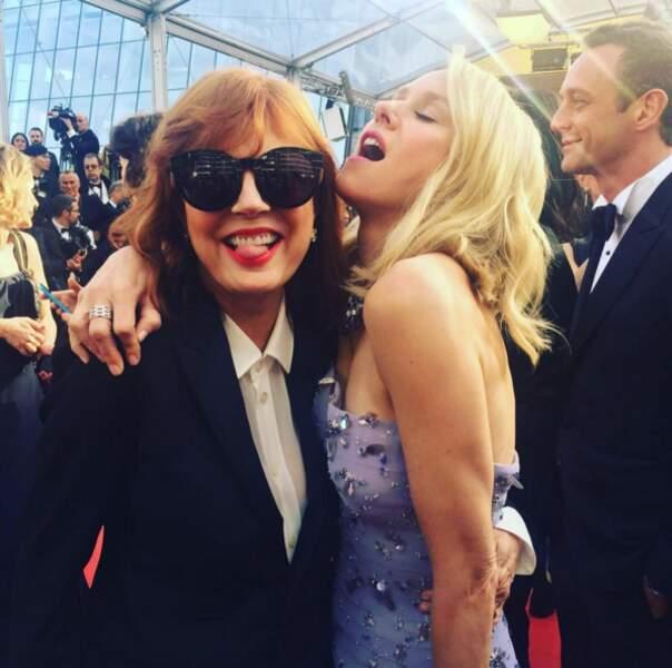 Insta Cannes 2016 : Susan Sarandon et Naomi Watts, présentes pour L'Oréal, s'adorent vraiment BEAUCOUP.