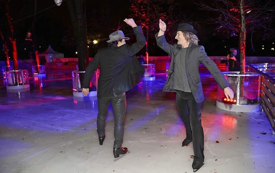 Gwendal Peizerat et Philippe Candeloro s'affrontent sur la glace