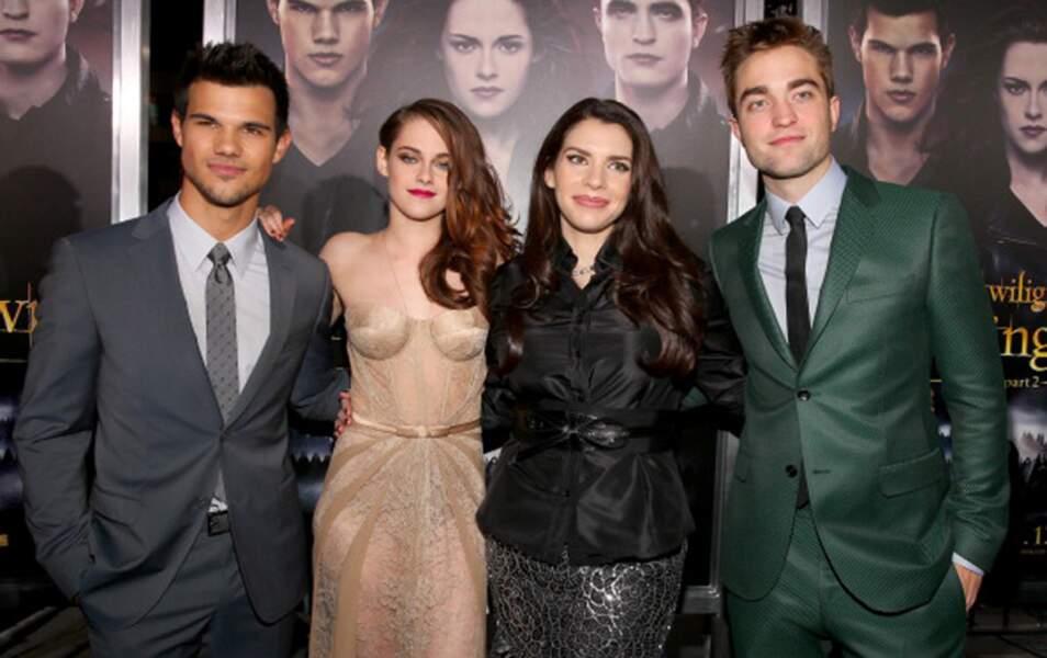 Taylor Lautner, Kristen Stewart, Stephenie Meyer et Robert Pattinson