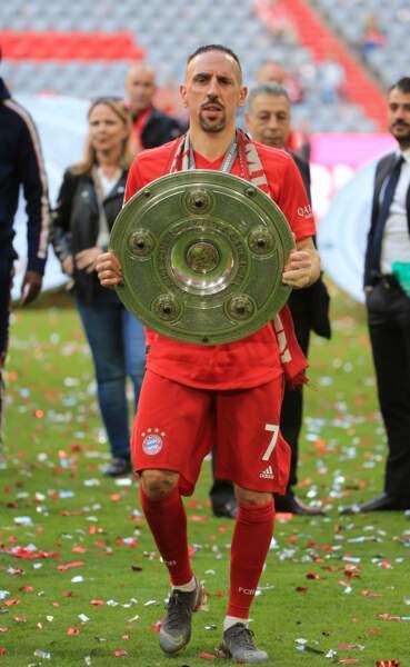 Franck Ribéry célèbre le titre de champion d'Allemagne