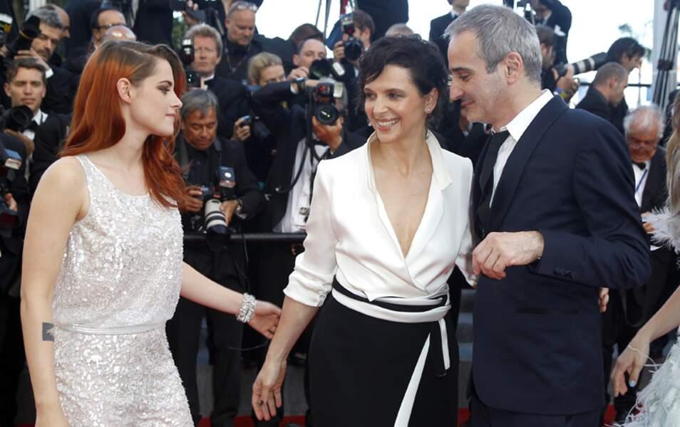 Kristen Stewart, Juliette Binoche et Olivier Assayas