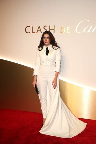 Yasmine Sari au dîner Cartier, le 10 avril 2019 à la Conciergerie de Paris