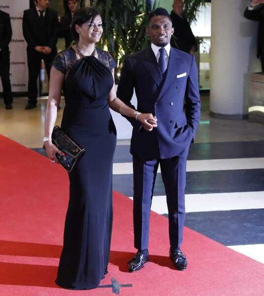 Samuel Etoo et sa femme Georgette