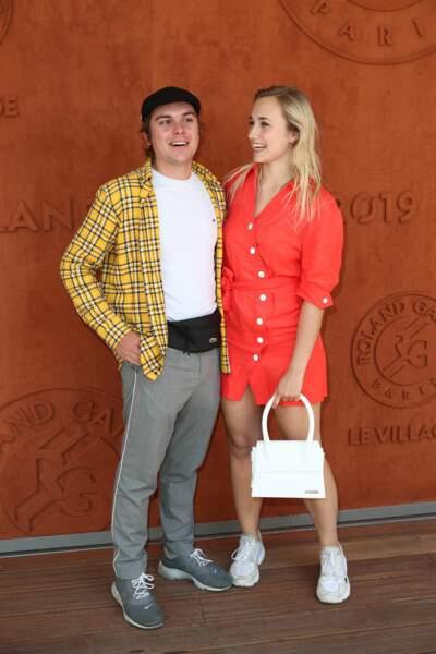 Chloé Jouannet et son chéri Zacharie Chasseriaud à Roland-Garros