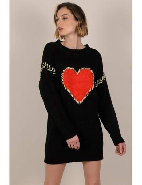 Robe pull à motif coeur, Molly Bracken, 54,95€