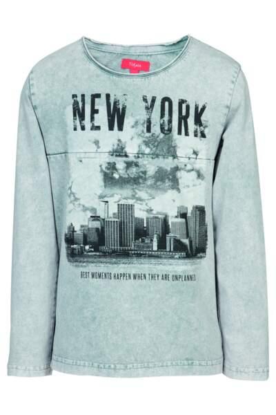 Tee shirt. Imprimé New York, 9,95€, Tissaia E.Leclerc.