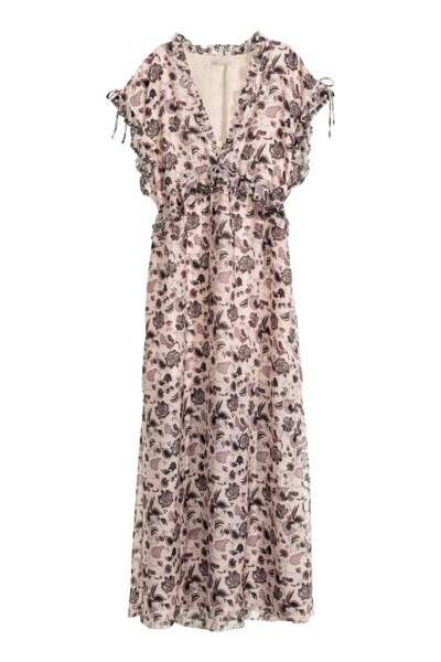 H&M robe longue en soie 149,00 euros