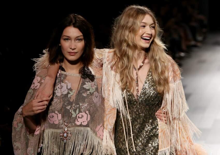 Fashion week de New York - La complicité entre les deux sœurs est belle à voir