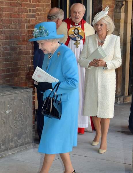 Ils sont suivis par la duchesse Camilla et le prince Charles