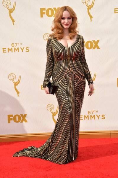 Christina Hendricks dans une tenue que les Kardashian auraient a-do-ré