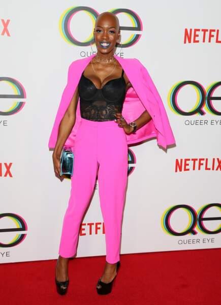 Les don'ts de la semaine : le costume pantalon rose - Obiageliaku Anusionwu