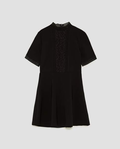Zara : Robe courte avec dentelle, 29,99 euros au lieu de 49,95 euros