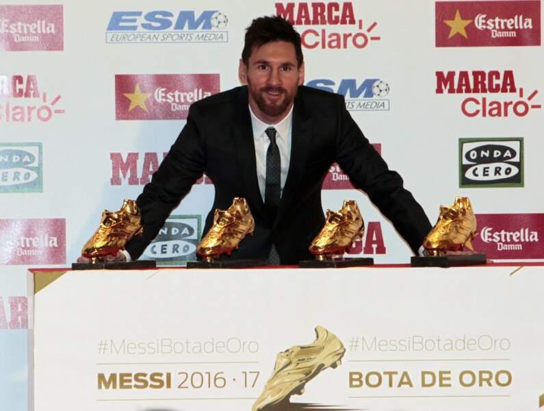 Avec son parcours au Barça, Lionel Messi, lui, est à la quatrième position