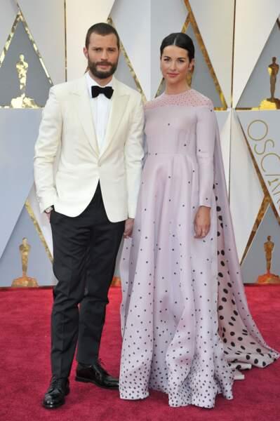 Les plus beaux couples des Oscars 2017 : Jamie Dornan et Amelia Warner