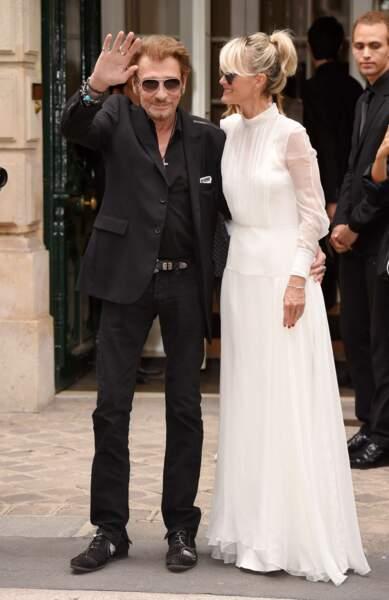 Défilé Christian Dior haute couture 2016-2017 : Les Hallyday beaux comme des jeunes mariés