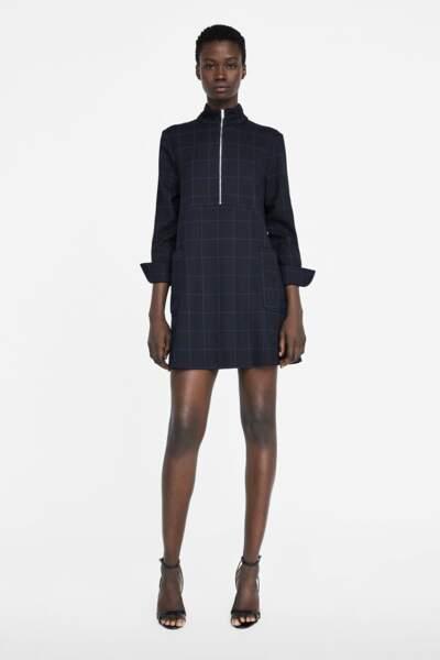 Robe à carreaux, Zara, 39,95€