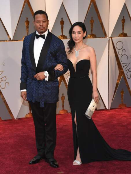 Les plus beaux couples des Oscars 2017 : Terrence Howard et Miranda Pak