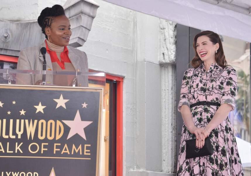 Anne Hathaway et la réalisatrice Dee Rees