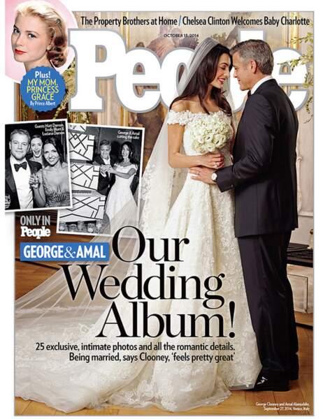 La robe de mariée d'Amal Alamuddi, devenue Madame Clooney, était signée Oscar de la Renta