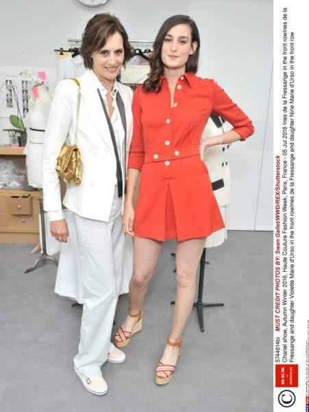 Défilé Chanel Haute Couture : Inès de la Fressange et sa fille Nine d'Urso
