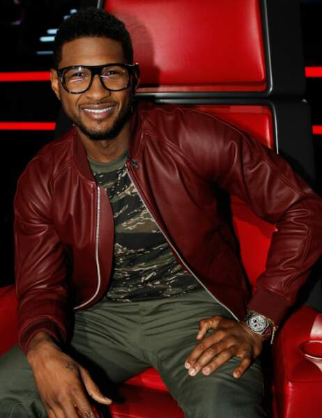 ... tandis qu'Usher a pris le fauteuil de Cee Lo Green