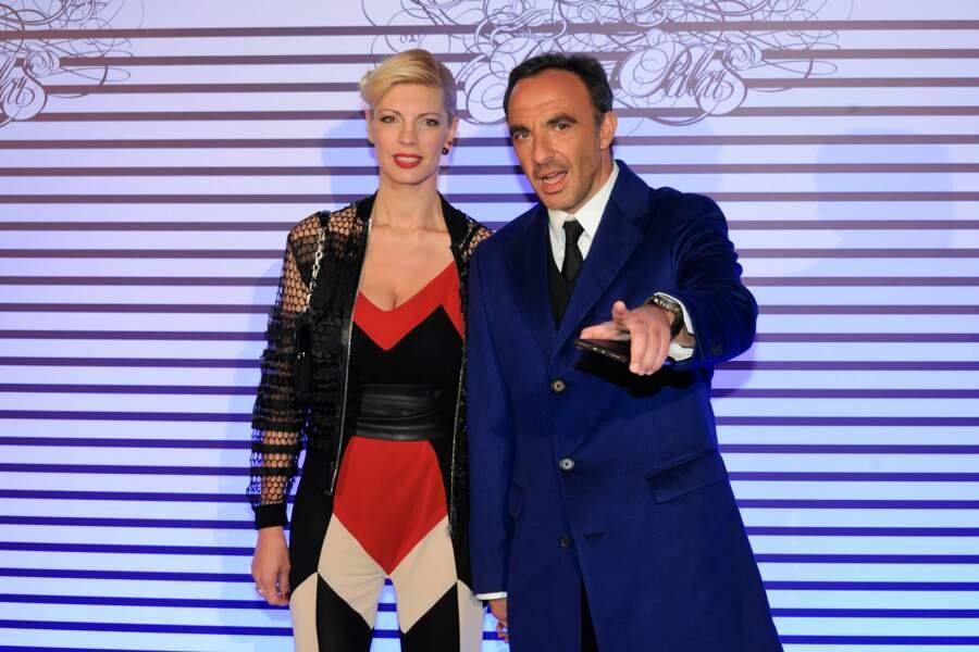 Tina Grigoriou avec son compagnon Nikos Aliagas