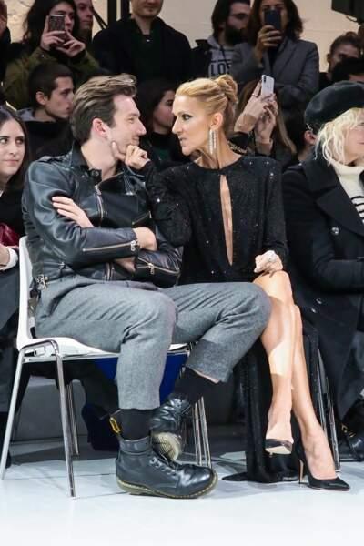 Céline Dion et Pepe Munoz au défilé Alexandre Vauthier