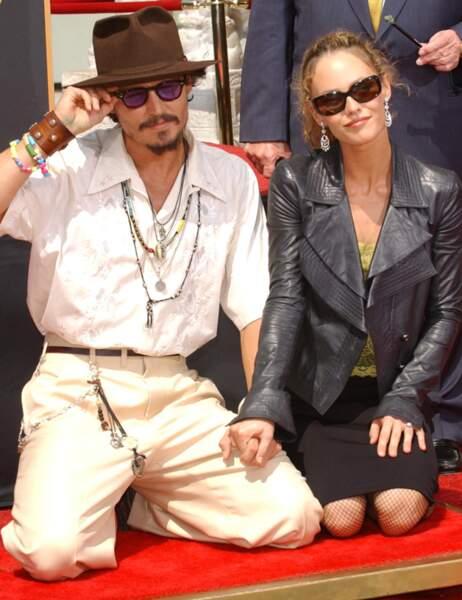 Johnny Depp et Vanessa Paradis en septembre 2005