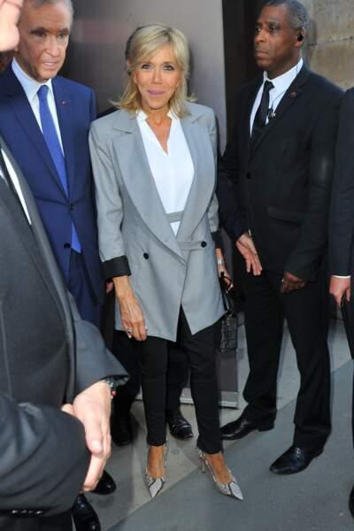 Exposition Christian Dior au Musée des Arts décoratifs à Paris : Brigitte Macron