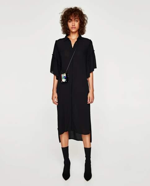 Zara : Tunique à manches longues et volants, 25,99 euros au lieu de 39,95 euros